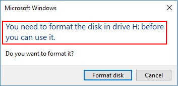 need to format disk