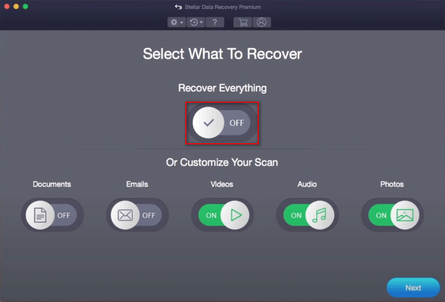 select a drive to scan