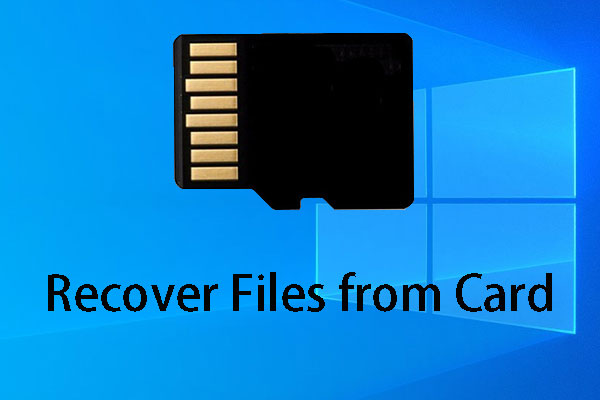 recover files from card thumbnail