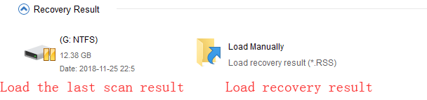 load recovery result