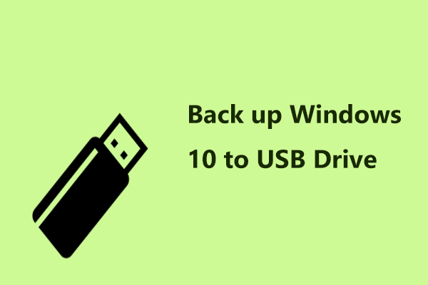 back up Windows 10 to USB
