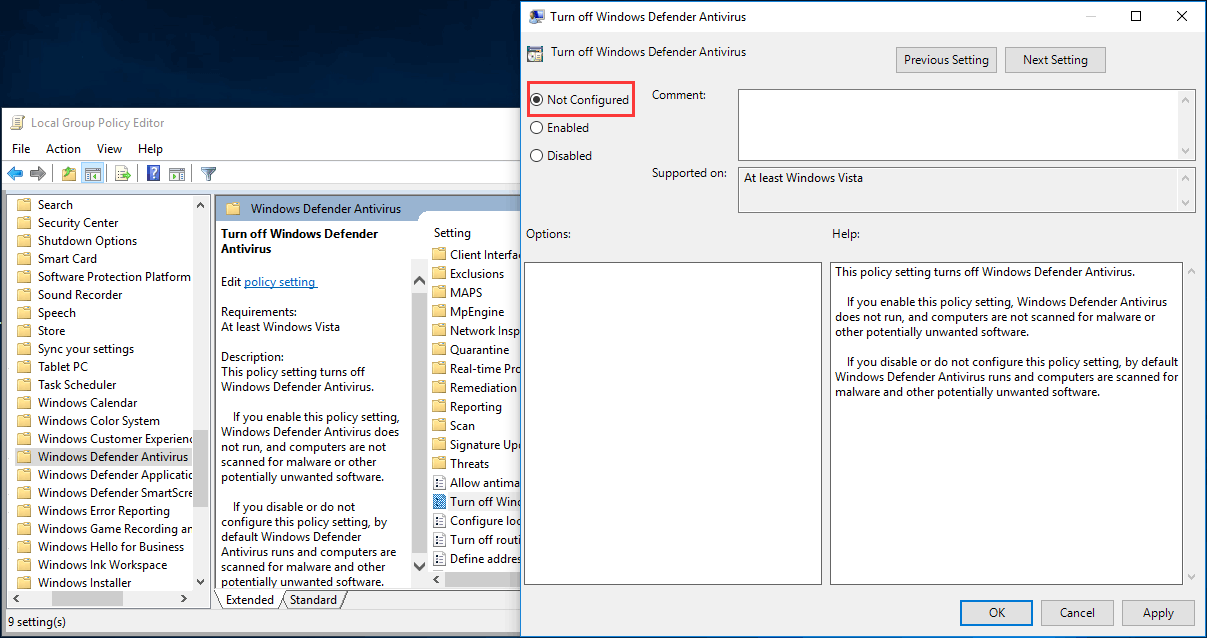 Full Fixes for Windows Defender Not Turning on in Windows 10