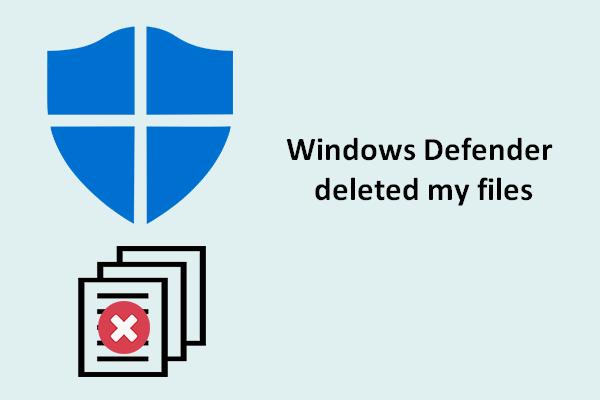 windows defender deleting files