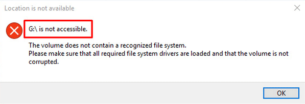 The Volume Does Not Contain A Recognized File System - How