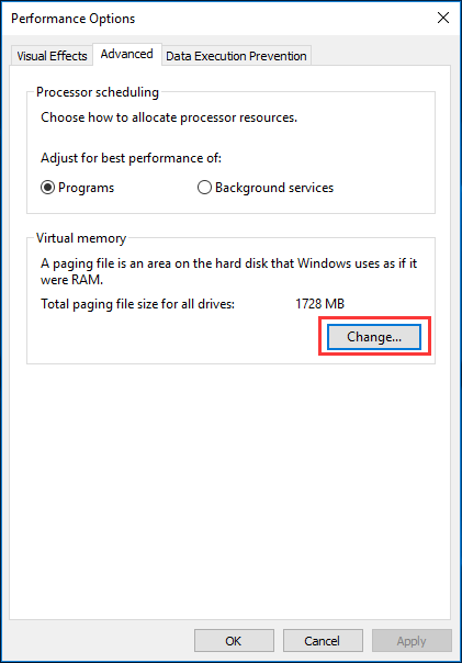 Full Fixes for Your Computer Is Low on Memory in Windows 10/8/7