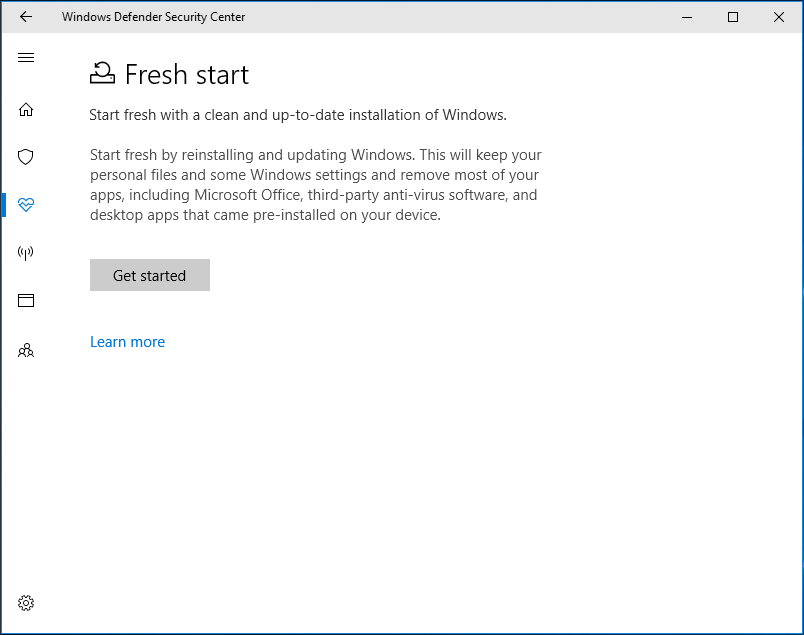 Windows 10 Reset VS Clean Install VS Fresh Start, Details