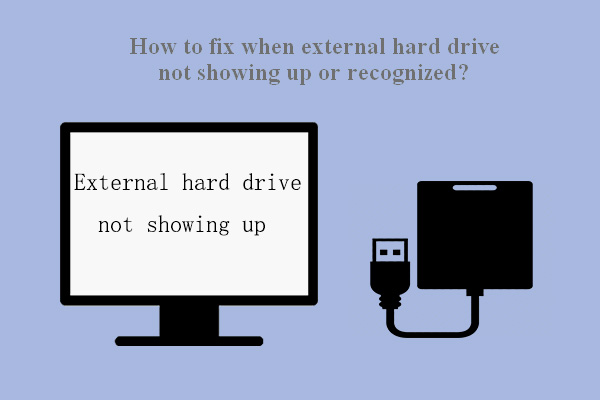 External hard drive not showing up