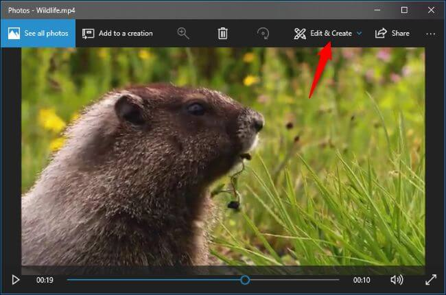how to use the Windows 10 hidden MP4 video editor