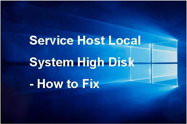 service host local system high disk thumbnail