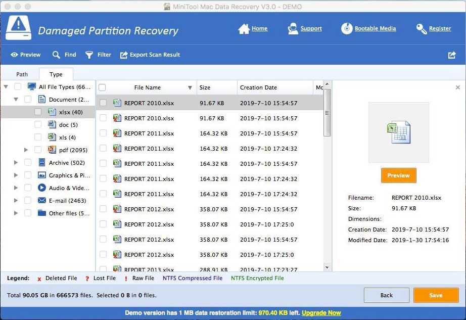 How to Recover Deleted Excel Files in Windows and Mac Easily - MiniTool