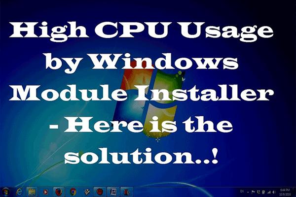 Modules installer worker windows