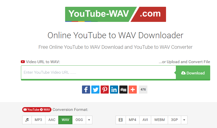 Fast Youtube to WAV Converter | Download youtube video to WAV