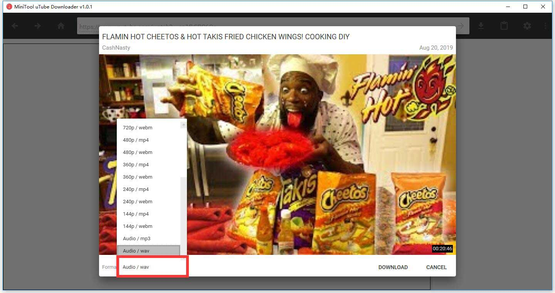 YouTube to WAV: How to Convert YouTube to WAV - MiniTool