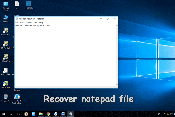 Recover notepad file