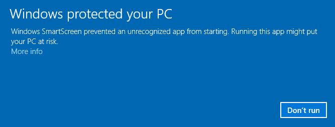 Windows smartscreen