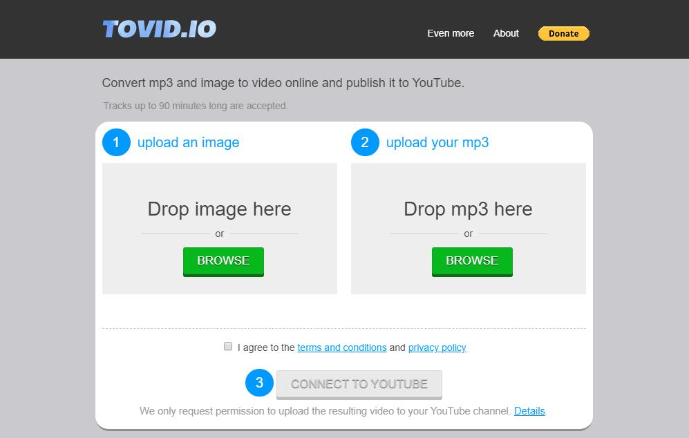 the interface of TOVID.IO
