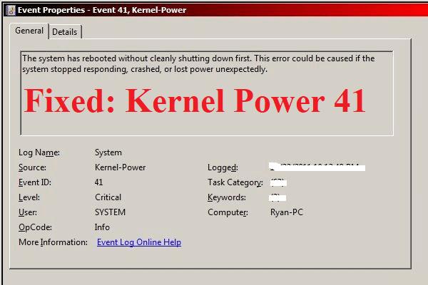 Làm chỉ dẫn Nào Để Khắc Phục Lỗi Krnel Power 41 Trên hệ điều hành 10?