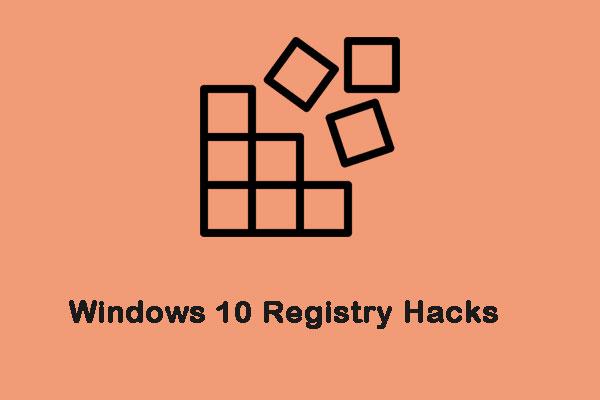 Windows 10 Registry Hacks Performance