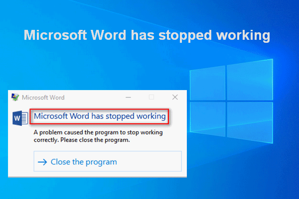 microsoft word has stopped working fix thumbnail