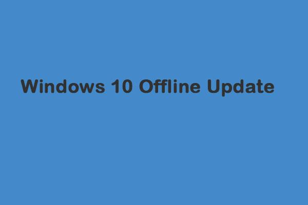 windows 10 updates offline download