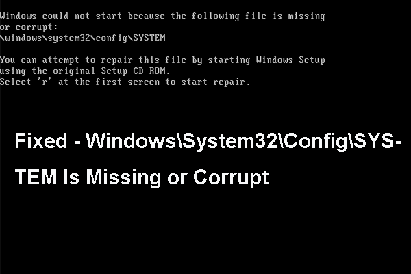 Windows could not start because the following file is missing or corrupt