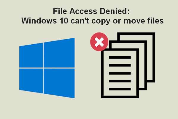 access denied copy or move files thumbnail