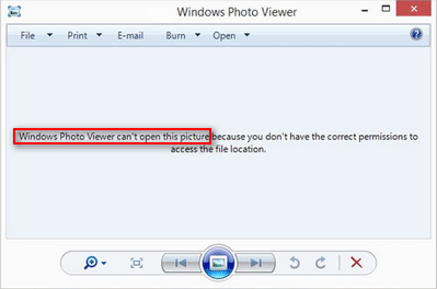 Windows Photo Viewer can't open this picture