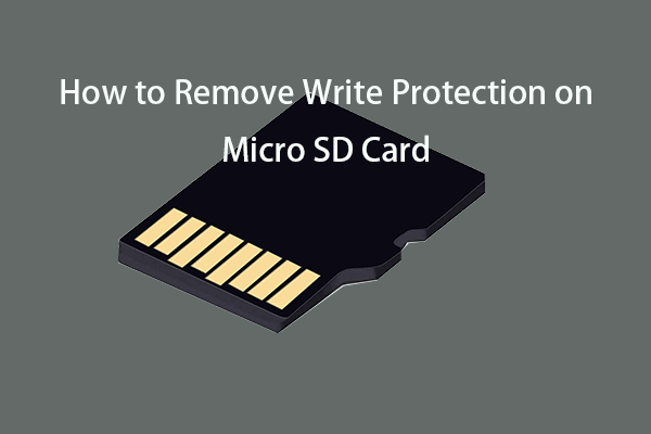 how to remove write protection on micro SD card