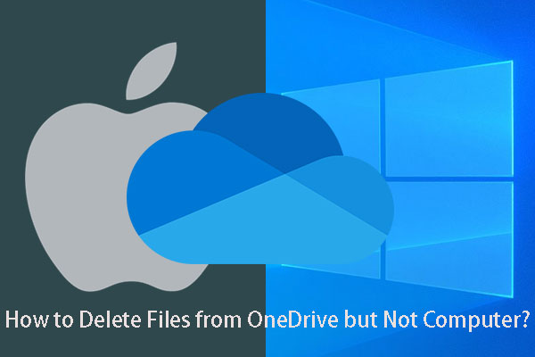 delete files from OneDrive but not computer