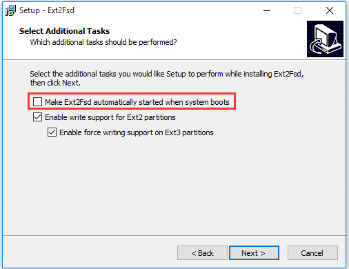 install Ext2Fsd on Windows 10 PC