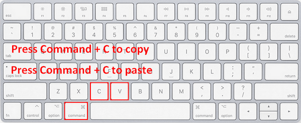 Copy and paste on Mac