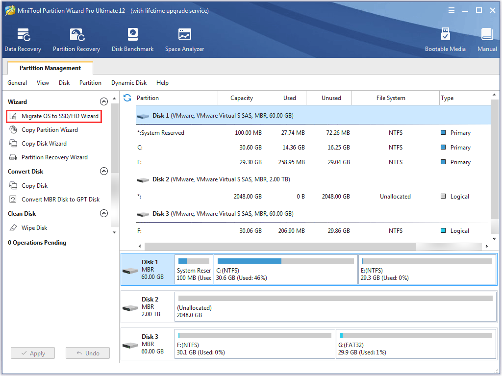 migrate OS to SSD/HD