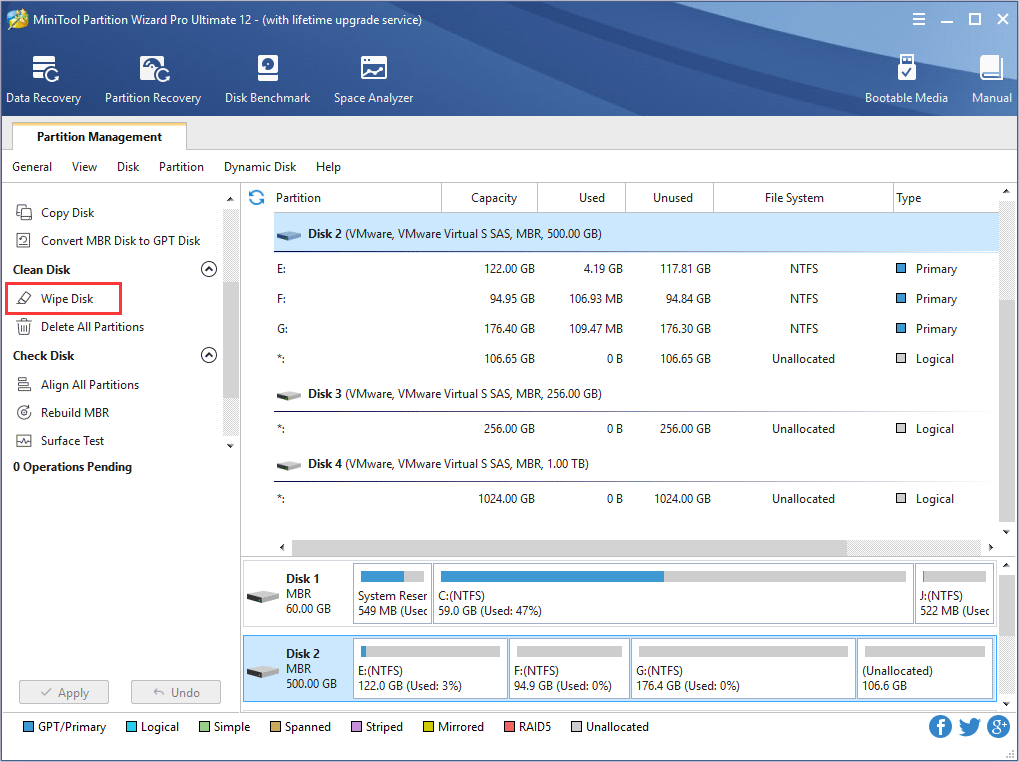 partition wizard stuck