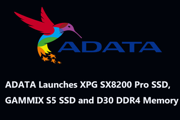 ADATA Launches XPG SX8200 Pro SSD, GAMMIX S5 SSD and D30