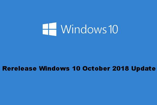 win 10 october update re release