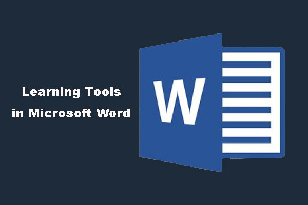 Learning Tools in Microsoft Word