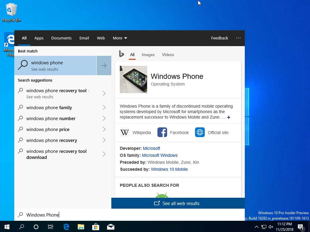 Windows 10 New Search Experience and Volume Flyout May