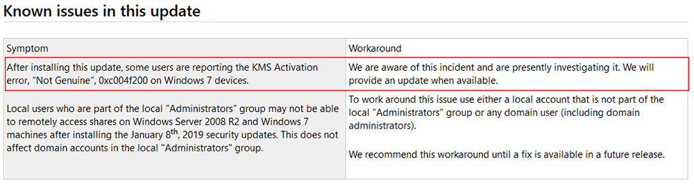 Not Genuine 0xc004f200 KMS Activation Error Occurs on Win7