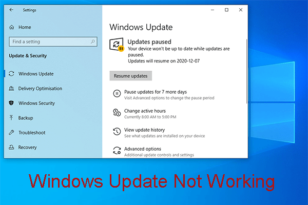 Bothered by Windows Update Not Working? Here's What to Do - MiniTool