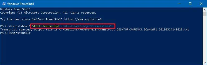 How Can you Record Powershell Command Session Windows 10 Easily