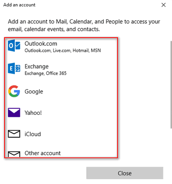 Windows 10 Contacts App