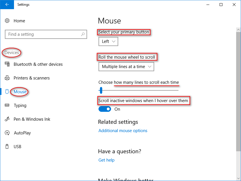 How Do You Change Mouse Settings On Windows 10