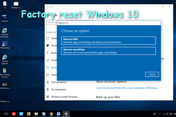 reset my computer to factory settings windows 10