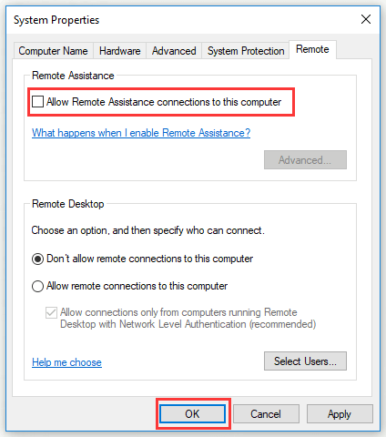 Three Ways to Disable Remote Assistance in Windows 10 - MiniTool