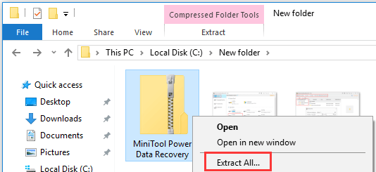 How to Zip and Unzip Files Windows 10 for Free - MiniTool