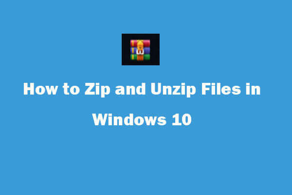 unzip program for windows 10 free