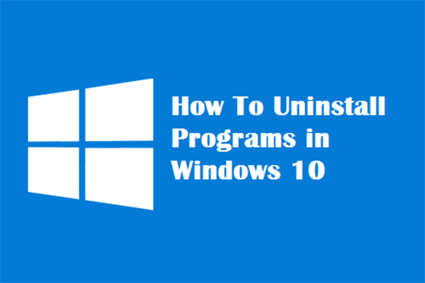 uninstall programs in windows 10 thumbnail