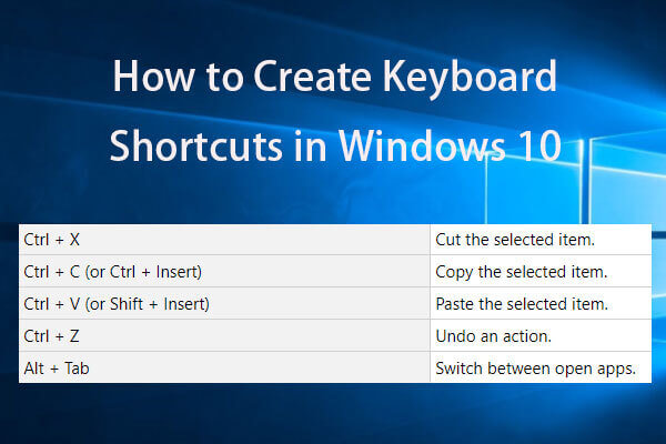 create keyboard shortcuts windows 10 thumbnail