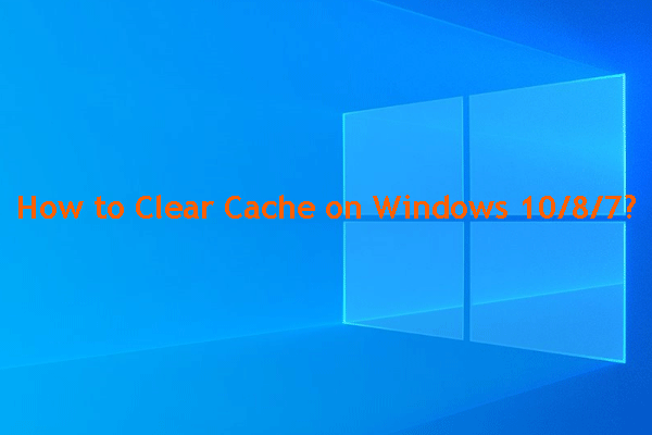 how clear cache on windows thumbnail