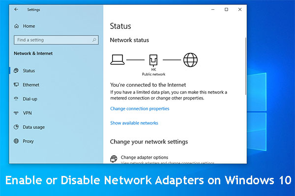 how enable disable network adapters win10 thumbnail